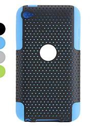 съемный пластиковый дизайн и силиконовый чехол для Ipod Touch 4 (разных цветов)