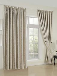 (Um painel) clássico jacquard tarja cortina blecaute
