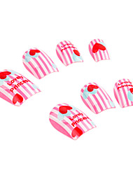 Full Cover Heart-Shaped Style Plastic Acrylic Nails Tips