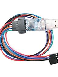 usb carregador usbasp programador para kk multicopter bordo