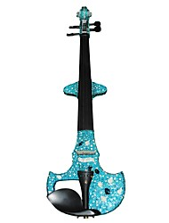 Cozart - (ML024-C5) 4/4 Czechic cristal incrustada violino elétrico com Case / Bow / Rosin / Cabo / Bateria / Extra Cristal / Glue