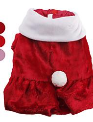 Hunde Mäntel Rot / Rosa Hundekleidung Winter einfarbig Niedlich / Weihnachten