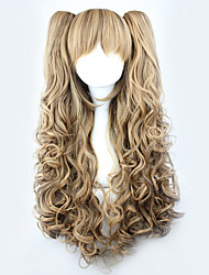 Lolita Wigs Sweet Lolita Lolita Long / Curly Brown Lolita Wig 70 CM Cosplay Wigs Solid Wig For Women