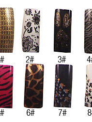 70 Pcs Full Cover French Acrylic Nails Tips 8 Colors Available