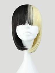 Lolita Perücken Punk Schwarz Farbverläufe Lolita Perücken 35 CM Cosplay Perücken Einfarbig Perücke Für