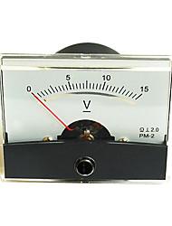 DC 0-15V voltmetro analogico pannello (tester di tensione)