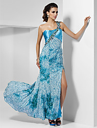 Sheath/Column One Shoulder Asymmetrical Floor-length Sequined Evening/Prom Dress