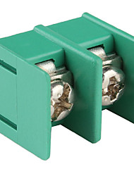 2-Pin 7.62mm Pitch Screw Terminal Block Connectors-Green (20-Piece Pack)
