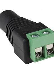 coaxial BNC fêmea coaxial câmera balun tv conector (10 peças)