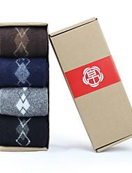 caixa de homens refinados de meias de lã