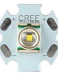 luce diy cree 3w 107LM 6000-7000K bianco led emettitore con base in alluminio (3.2-3.6v)