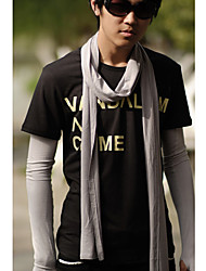 Men's Narrow Long Mercerized Cotton Scarf