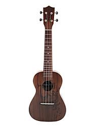 Rainie - (cc-03) ad alta grande solido concerto ukulele acacia koa con gig bag / sintonizzatore (caffè tatoo)
