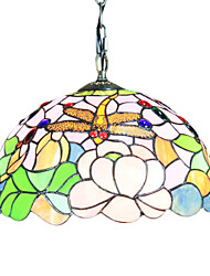 Tiffany 2 - Light Pendent Lights with Dragonfly Pattern