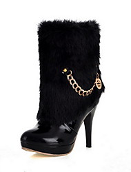 Leatherette Stiletto Heel Ankle Boots Party / Evening Shoes With Chain (More Colors)