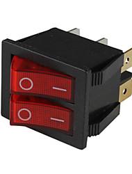 6-pines interruptores basculantes con indicador de luz roja