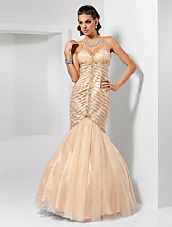 Prom / Formal Evening / Military Ball Dress - Vintage Inspired / Elegant Trumpet / Mermaid Sweetheart / Spaghetti Straps Floor-length