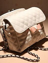 cuir bowknot messenger bag (22cm * 6.5cm * 17cm)