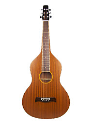 Aiersi - (01HBR) Plywood Mahogany Rope Binding Weissenborn Guitar/Acoustic Hawaiian Slide Guitar with Gig Bag(Satin)