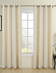 Two Panels Curtain Neoclassical , Solid Dining Room Poly / Cotton Blend Material Curtains Drapes Home Decoration For Window