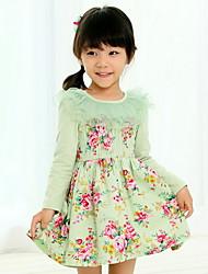 Mädchen ländlichen Stil langärmelige Kleid