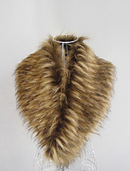 Scarves Feather/Fur Brown Party/Evening