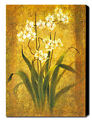 "Hand-painted Floral Oil Painting with Stretched Frame 24"" x 36"""