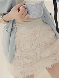 Embroidery Rose Short Skirt