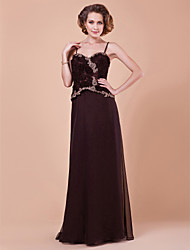 Sheath/Column Spaghetti Straps Floor-length Mother of the Bride Dress