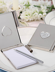 """""""Love Note"""" Silver Toned Luxury Memo Pad and Pen"""