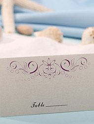 Place Cards and Holders Place Card - Purple Floral Print (Set of 12)