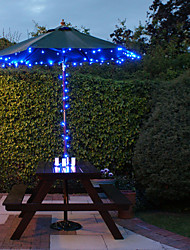 Solar-100-LED Blue Light Outdoor-Lichterkette Weihnachtsdekoration Lampen