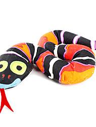 Коты Игрушки для животных Кошачья приманка Змея Черный Текстиль