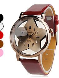 Dames Modieus horloge Kwarts PU Band Zwart / Wit / Rood / Bruin / Roze Merk-