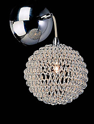 20W Comtemporary Aluminum Wall Light with 1 Light in Globe Design