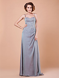 Sheath/Column Spaghetti Straps Floor-length Chiffon Mother of the Bride Dress