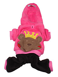 Dog Hoodie / Clothes/Jumpsuit Pink Dog Clothes Winter Animal