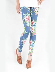 Elegant Floral Print Leggings