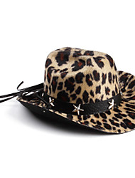 Leopard Print Hat with Star for Small Dogs Cats (Assorted Colors)