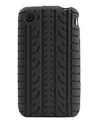 Carcasa Suave Estilo Neumático para el iPhone 3G y 3GS
