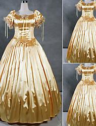 Manches courtes-parole longueur satin Golden Princess Dress Lolita