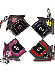 Dog House Style Dog ID Name Tag (Assorted Colors)