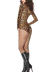 Sexy Leopard Cat Clubwear Woman Halloween Party Teddy Set Stripper Wear