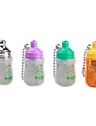 Feeding-Bottle Shape Windproof Keychain Butane Lighter (Random Color)