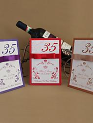 lugar tarjetas y titulares de flores de fantasía tarjeta de número de mesa (juego de 10)