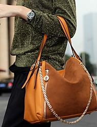 cuir chaîne épissé femmes fourre-tout (26 * 14 * 26cm)