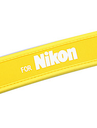 Новое желтое камеры неопрена шейный ремешок для Nikon D60 D40X D80 D70s D200 B103