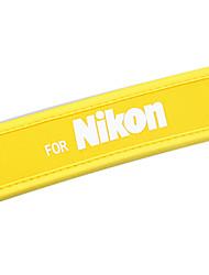 NUEVA neopreno amarillo cámara Correa de cuello para Nikon D40x D60 D70s D80 D200 B103