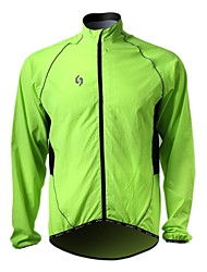 SPAKCT-Cycling Wind Jacket Green 100% 20D Polyamide Long-Sleeve