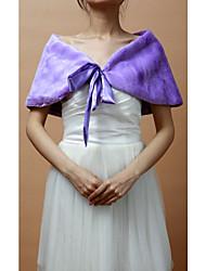 Fur Wraps / Wedding  Wraps Shrugs Sleeveless Faux Fur Black / Champagne / Beige / Purple Party/Evening Lace-up